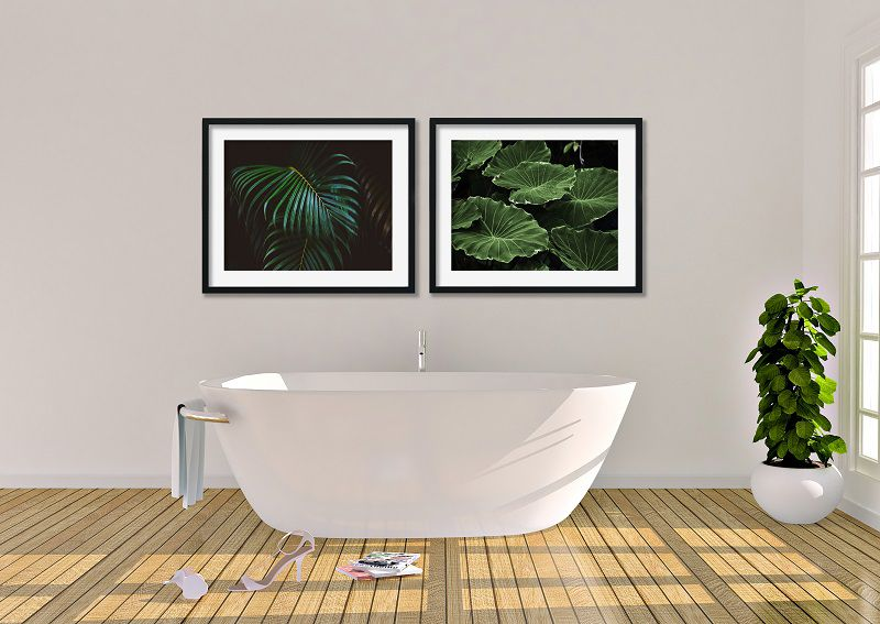 Stampe botaniche bagno moderno ABSTRACT HOUSE