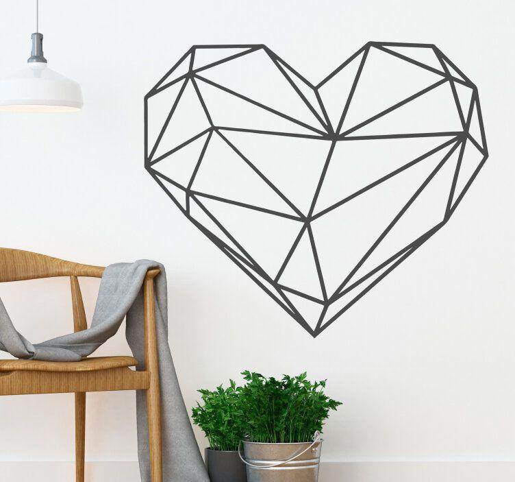 adesivo-murale-cuore-origami-tenstickers