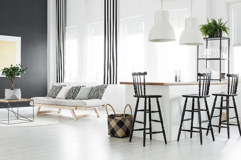 open space cucina sala minimal