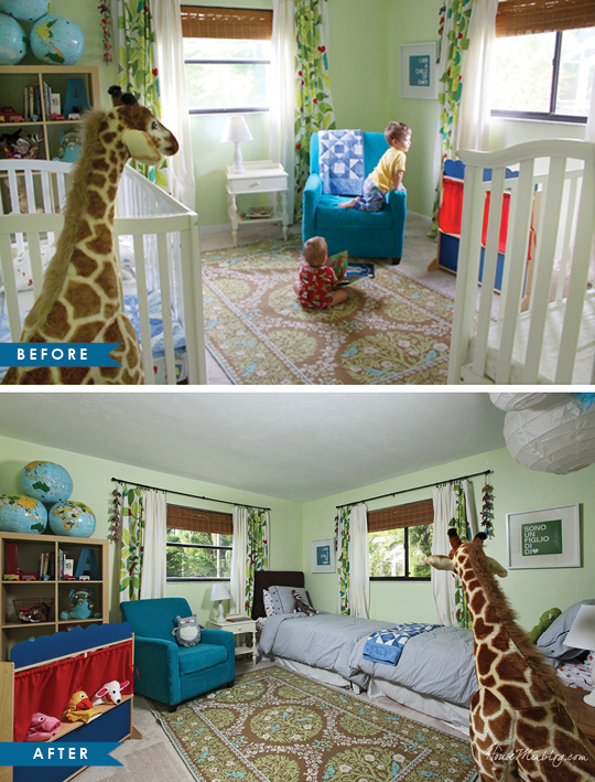 Home Staging Rearranging Kids Bedroom Before And After