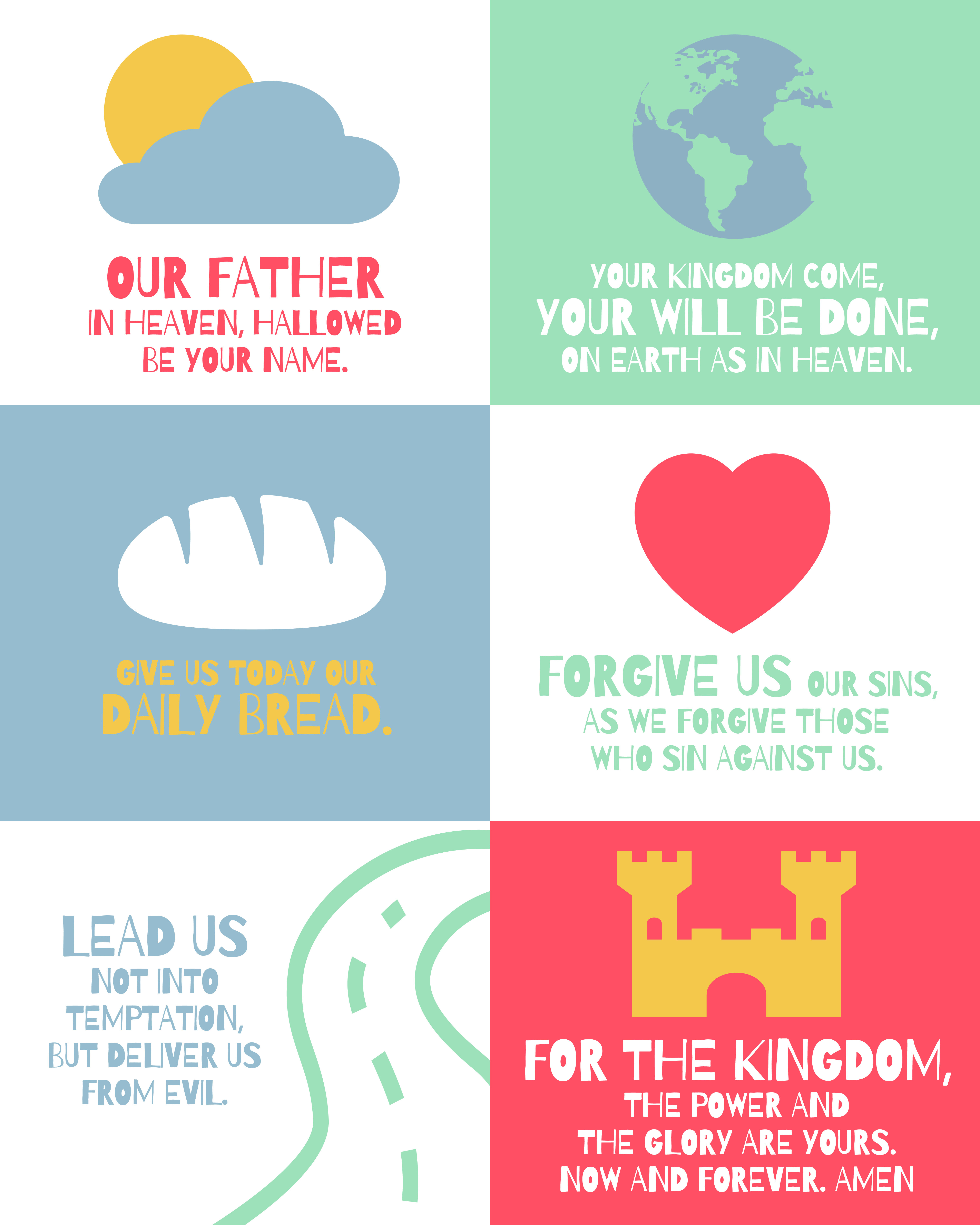 Large Lord S Prayer Posters For Kids