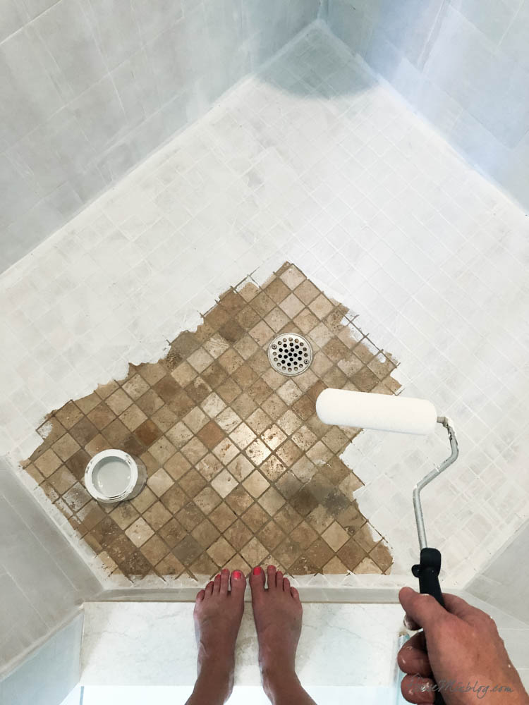painting shower tile floors and walls