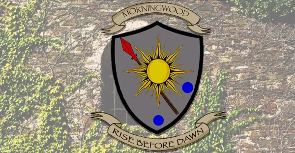 The House Morningwood sigil - Rise Before Dawn