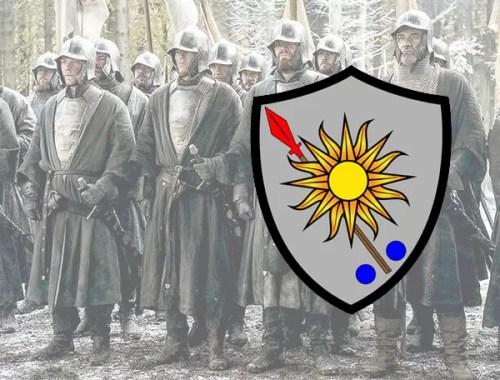 """Bannermen: one type of House Morningwood """"Sworn Sword""""."""