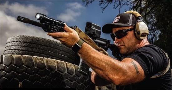 Jeremy Stafford of Guns & Ammo Magazine practicing good fundamentals of marksmanship.