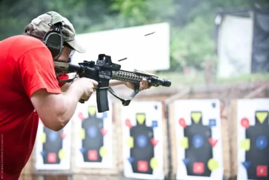 Rockwell Tactical puttin' rounds downrange.