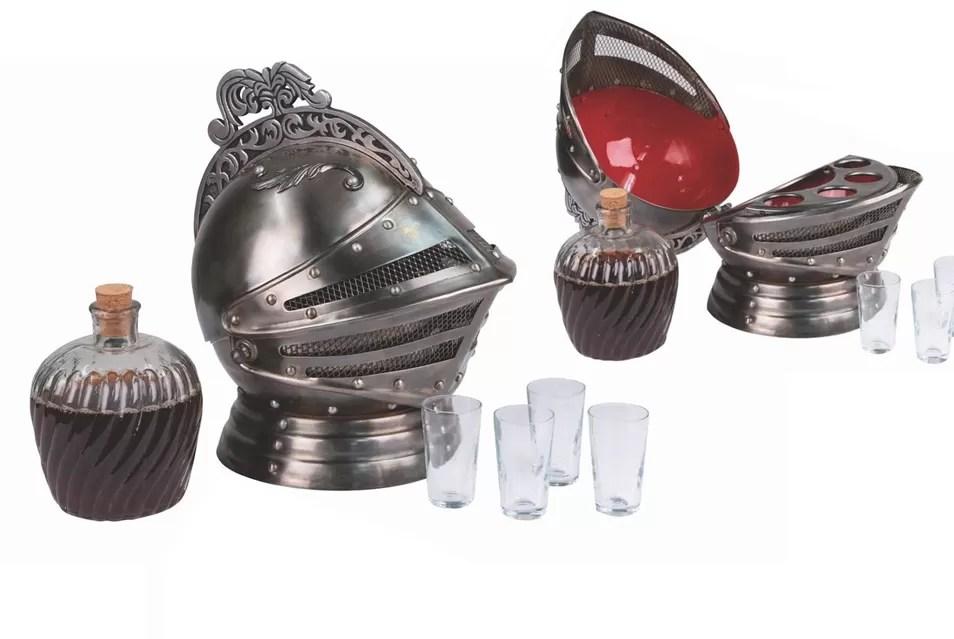 Medieval Knights Helmet Decanter