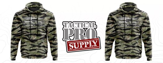 A tiger stripe hoodie from Tactical Pro Supply.