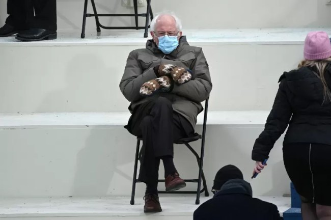 Vermont senator Bernie Sanders at Biden inauguration