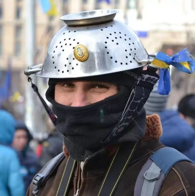 Tactical helmet, homemade riot style