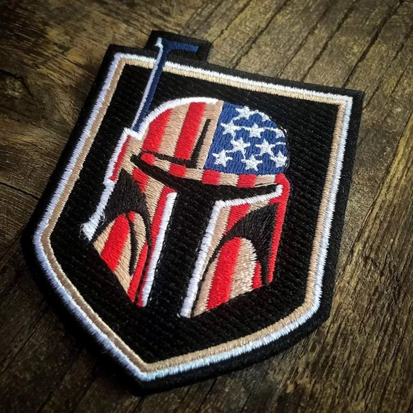 embroidered Bounty Hunter US Flag Morale Patch