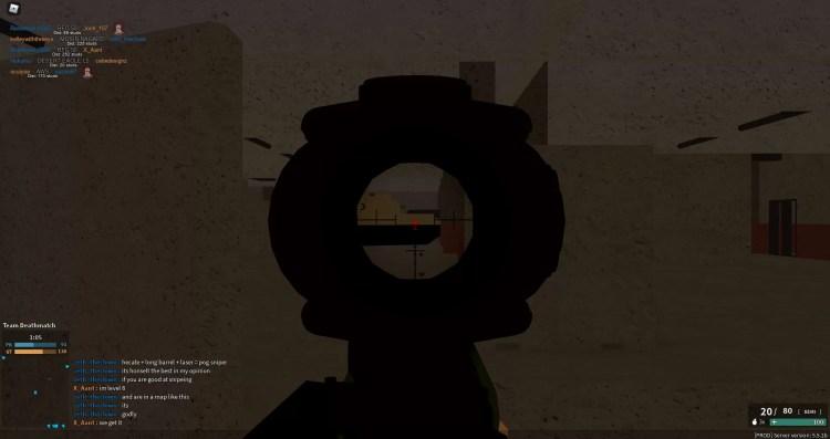 Phantom Forces, guns, scoping in.