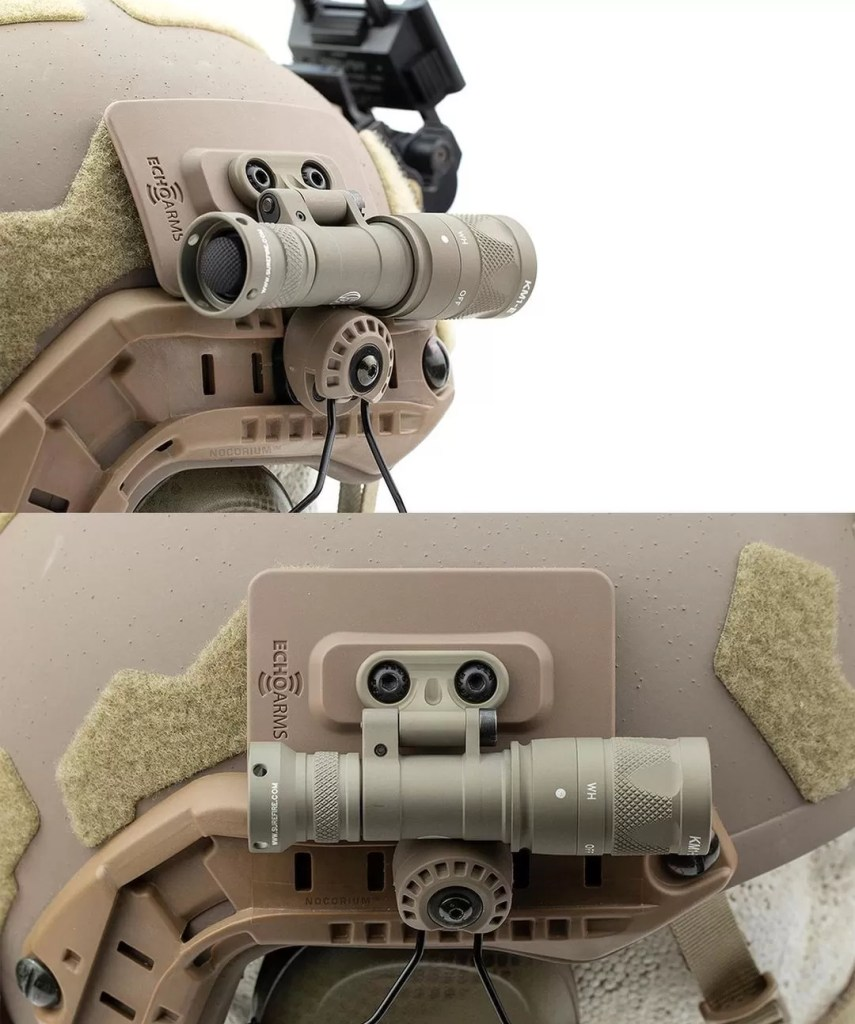 Echo Arms Fast Attach Plate with the Surefire Mini Scout Pro using the Pro's included M-Lok attachment.
