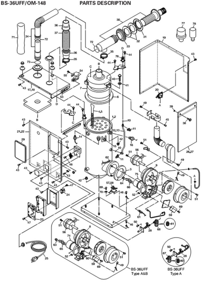 Rinnai Gas Heater Parts List