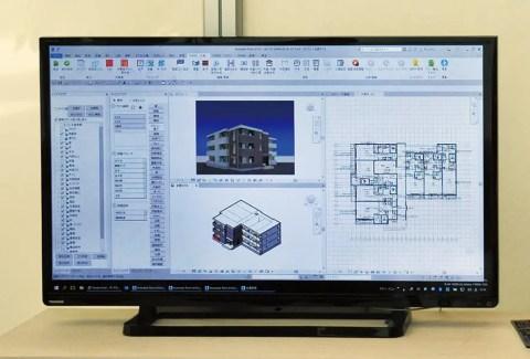 BIMで集合住宅を設計(デモ)