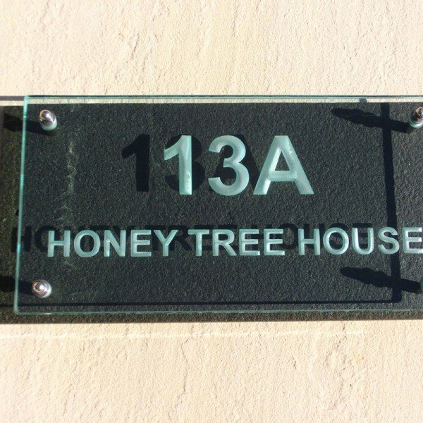 Large Glass Name & House Number Plaques 02