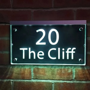 Illuminated House Number Plaques 02