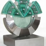 rolls-royce-process-excellence-award-glass-stainless-steel-sculpture