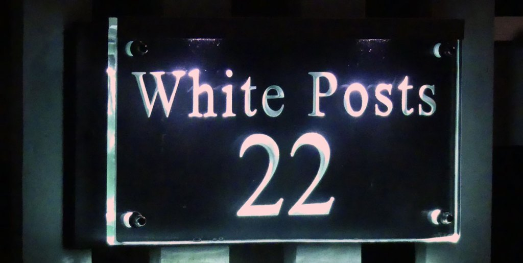 White Posts - Illuminated House Numbers