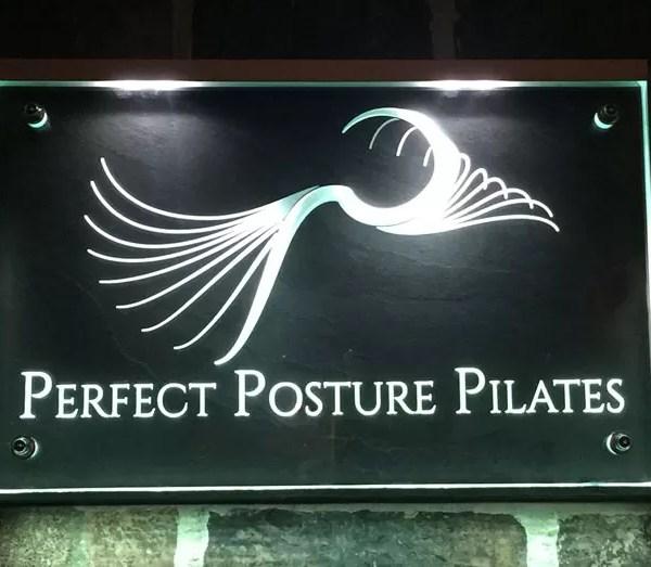Perfect Posture Pilates illuminated Plaque