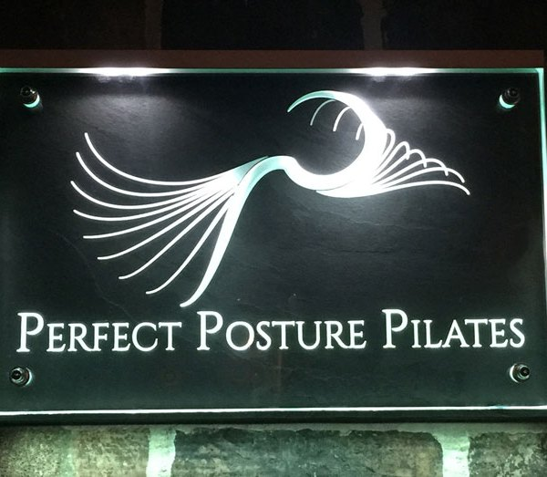 Perfect Posture Pilates illuminated Plaque
