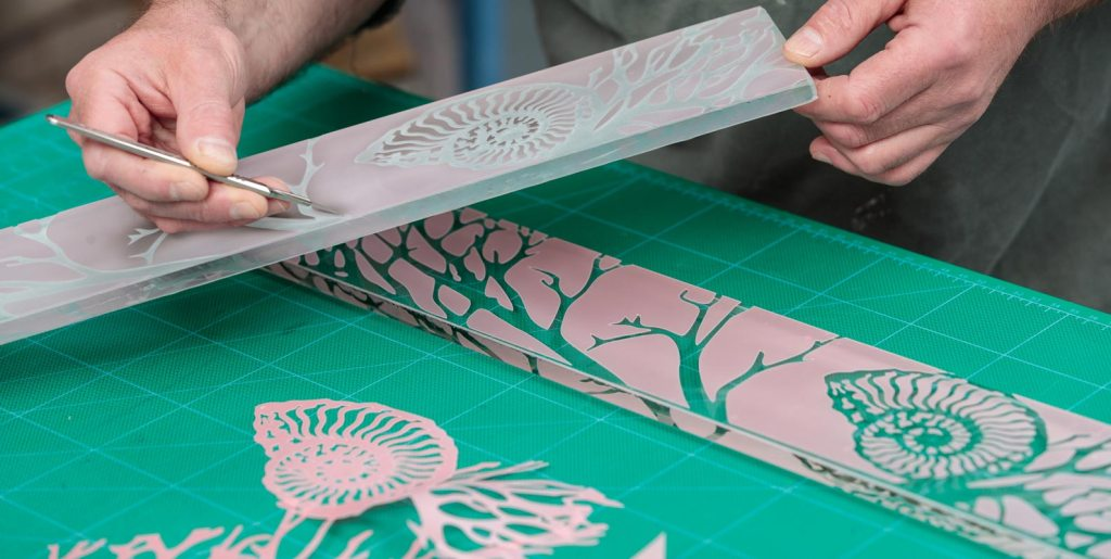 The process of custom glass etching to produce stunning bespoke glass art
