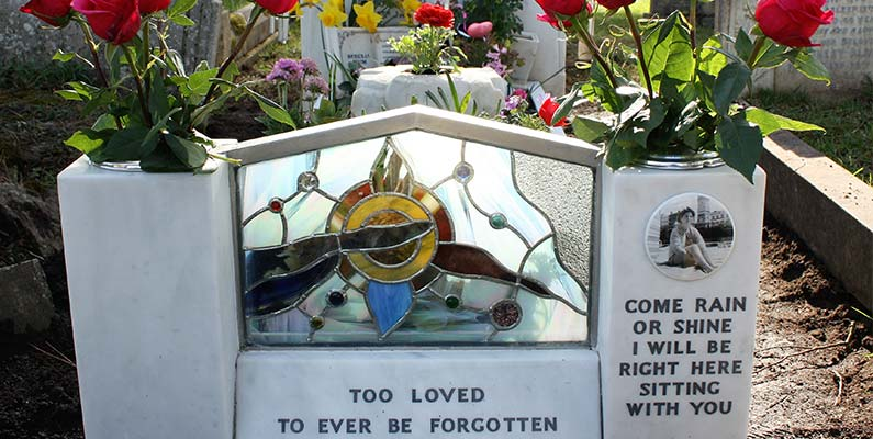 Stained Glass Memorial for Headstone