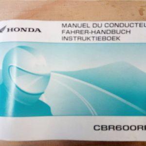HONDA CBR 600 LIBRETTO USO E MANUTENZIONE