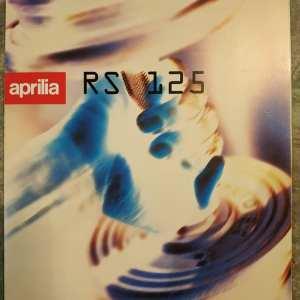 APRILIA RS 125 SILVER DEPLIANT