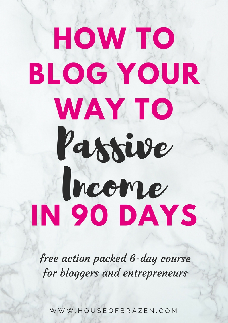 How to Blog Your Way to Passive Income in 90 Days