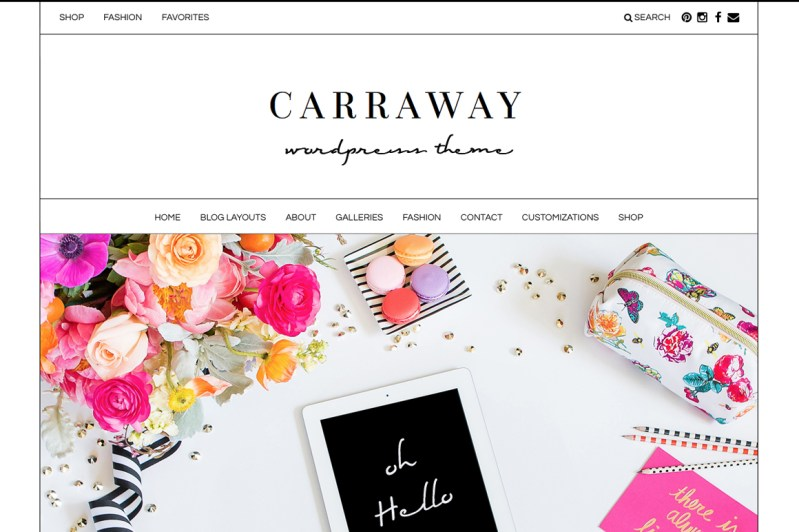 Angie Makes - The Carraway WordPress Theme