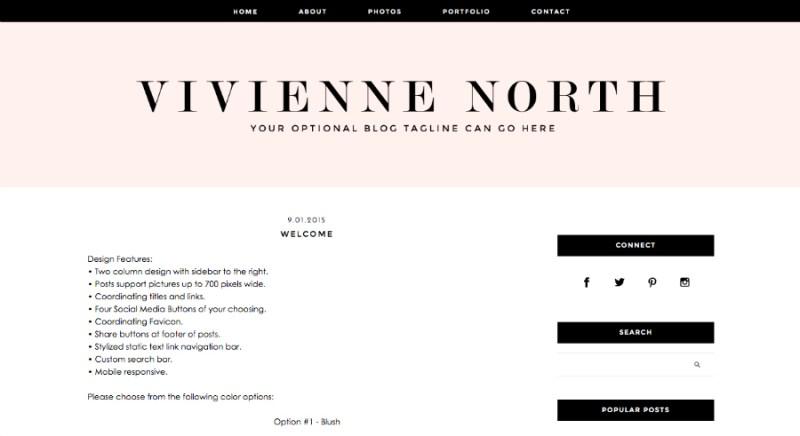 designer blogs vivienne wordpress theme