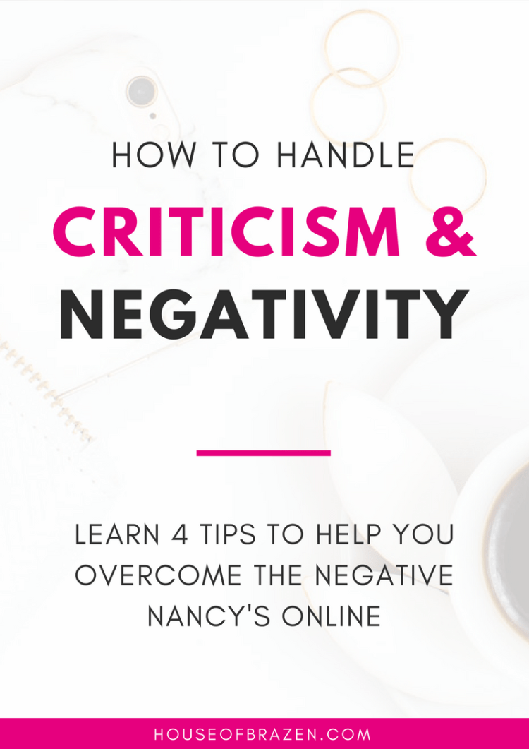 How to Handle Criticism, Negativity & Mean People Online
