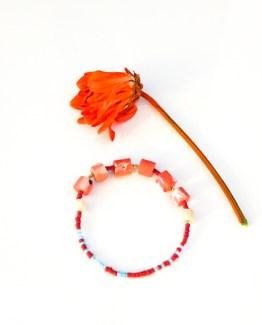 Ladé Series – Coral Gemstone Bracelet