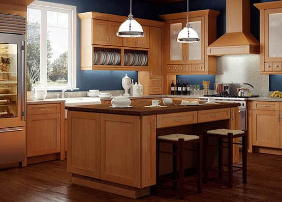 streamlined kitchen cabinets with a modern feel
