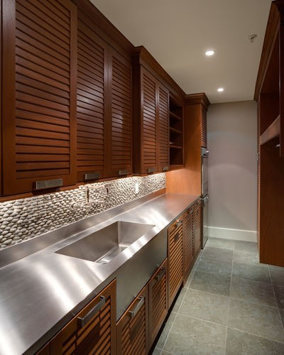 Kitchen Cabinet Styles - Louvered Cabinet Style