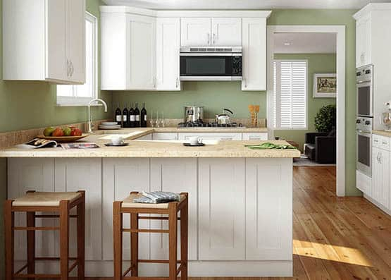 Affordable White: Ice White Shaker Kitchen Cabinets