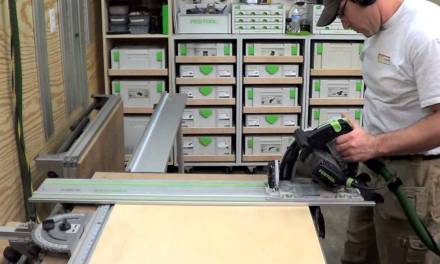 Building kitchen cabinets (part 1) | Cutting plywood to size for base cabinets
