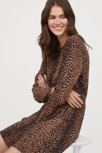 HM-Leopard Print Dress