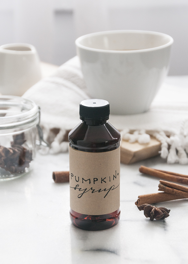 DIY Pumpkin Spice Latte Syrup by House of Earnest