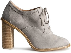 stacked heel lace ups