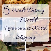5 Walt Disney World Restaurants Worth Skipping
