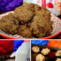 Mini Chocolate Strawberry Banana Oatmeal Cookies
