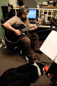 Roxy helps me lay down some demo tracks too