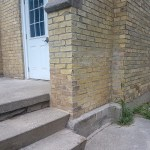 brickwork - side corner near steps