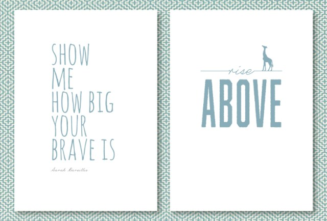 teal inspirational posters