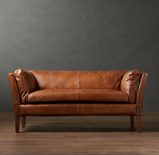 Tan leather sofas and couches