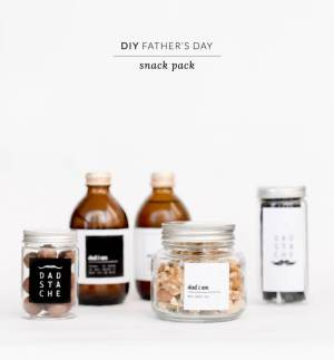 DIY Father's Day snack pack
