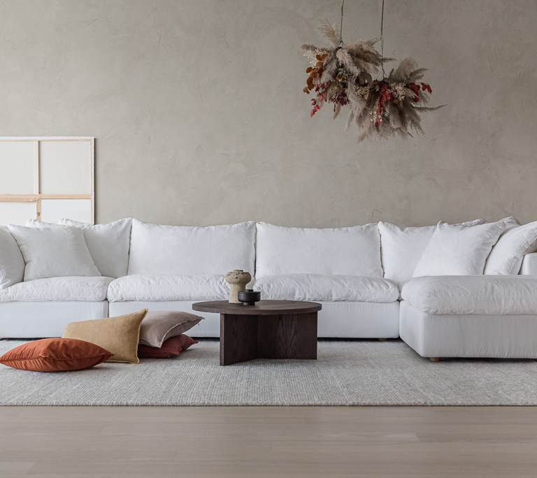 The Loom Collection white sofa