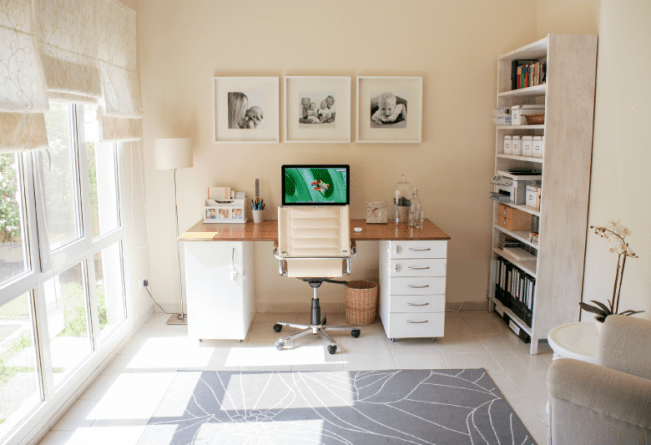 Home office desk DIY